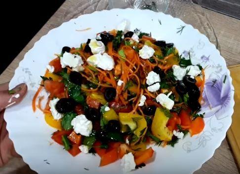 Салат из перца и моркови по-корейски