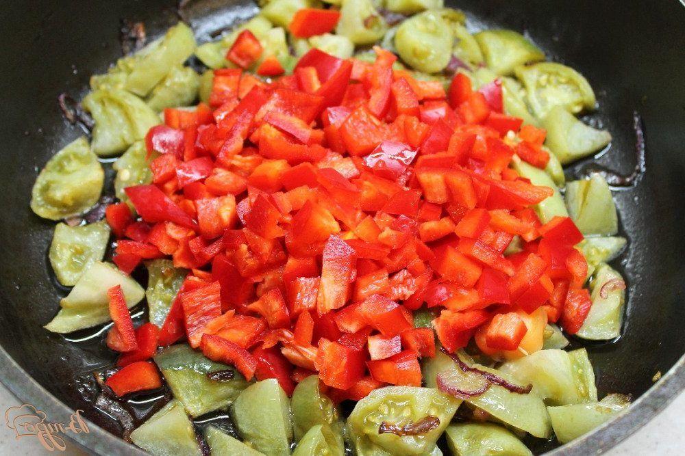 Рагу из зеленых томатов